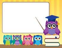 Image 9 de thème de professeur et de jeunes hiboux de hibou Photos stock