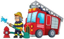 Image 3 de thème de sapeur-pompier illustration stock