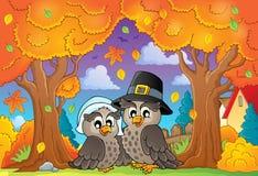 Image 6 de thème de thanksgiving Images libres de droits