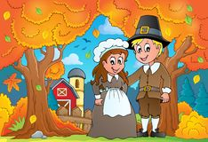 Image 7 de thème de thanksgiving Images libres de droits