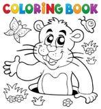 Image 2 de thème de groundhog de livre de coloriage Photos libres de droits