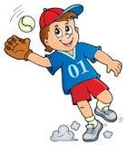 Image 1 de thème de joueur de baseball illustration de vecteur