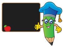 Image 3 de thème de professeur de crayon illustration de vecteur