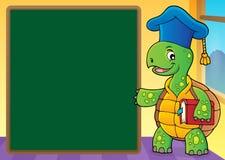 Image 5 de thème de professeur de tortue illustration de vecteur