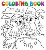 Image 5 de thanksgiving de livre de coloriage Images libres de droits