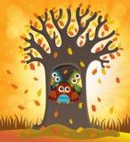 Image 4 de thème d'arbre de hibou Photo stock