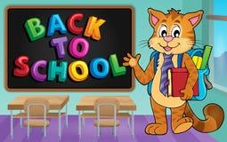 Image 3 de thème de chat d'école Photos libres de droits