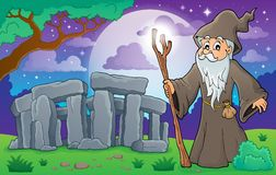 Image 3 de thème de druide Photo stock