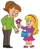 Image 1 de thème de jour de mères Image libre de droits