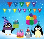 Image 2 de thème de pingouin de partie Photographie stock libre de droits