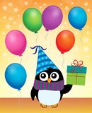 Image 4 de thème de pingouin de partie Photo libre de droits