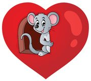 Image 3 de thème de Valentine Image stock