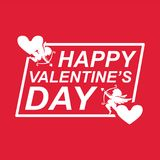 Image de Valentine Day Cupid Heart Vector Images libres de droits