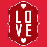Image de vecteur d'AMOUR de Valentine Day Images libres de droits