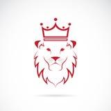 Image de vecteur d'un lion couronné Images stock