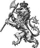 Lion armorial illustration libre de droits
