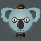 Image de vecteur d'un ours de koala de hippie Images stock