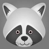 Image de vecteur d'un visage de raton laveur Photos stock