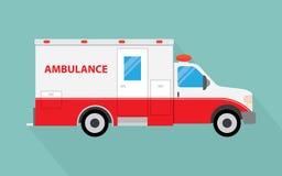 Image de vecteur d'une ambulance blanche de voiture illustration stock