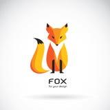 Image de vecteur d'une conception de renard sur un fond blanc illustration libre de droits