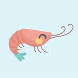 Image de vecteur d'une crevette drôle de bande dessinée Photographie stock
