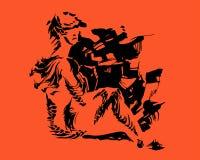 Image de vecteur d'une femme amphibie fantastique illustration libre de droits