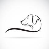 Image de vecteur d'une tête de chiens de Labrador illustration libre de droits
