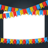 Image de vecteur de bannière de drapeau de festival Images libres de droits