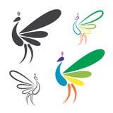 Image de vecteur de conception de paon illustration libre de droits