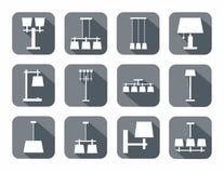 Image de vecteur de différents types de lampes Images stock