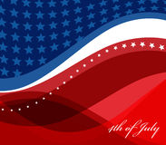 Image de vecteur de drapeau américain Images libres de droits