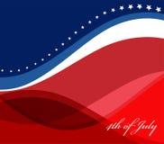 Image de vecteur de drapeau américain Images stock