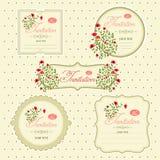 Image de vecteur des icônes d'invitation, cartes postales Image libre de droits