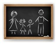 Image de vecteur. Famille Photographie stock