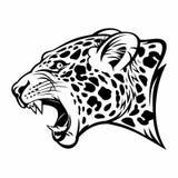 Image de vecteur de jaguar de grognement illustration stock