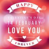 Image de vecteur de Valentine Day Love You Forever Photo stock