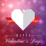 Image de vecteur de Valentine Day Two Tone Heart Photo stock