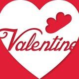 Image de vecteur de Valentine Day White Heart Text Image libre de droits