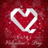Image de vecteur de Valentine Day White Polygon Heart Photo stock