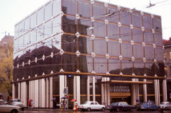 Image de vintage de la banque de Caisse d'Epargne à Geneve, Suisse Images stock