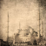 Image de vintage de mosquée bleue, Istambul Photo stock