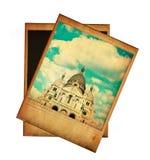 Image de vintage de Sacre Coeur d'isolement sur le blanc Photographie stock