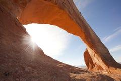Image de voûte de Wilson dans Moab, Utah images libres de droits