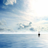 Image of a deep blue sky and sea Stock Images