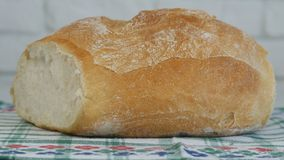 Image with a Delicious Bread Hot and Tasty Made at Home from White Flour royalty free stock image