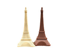 Image of delicious chocolate Eiffel Towers Stock Photography