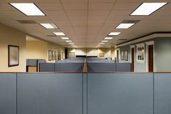 Empty Office Space Ready to Occupy Stock Image