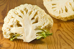 Image derevyannosm cauliflower on a table close-up. Image derevyannosm cauliflower on a table closeup Stock Images