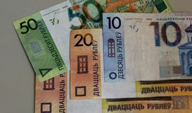 Image des billets de banque de la république de Bielorussie National Bank Photos stock