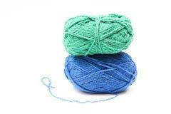 Image des boules de laine colorées Photos stock